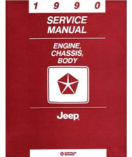 1990 Jeep Factory Shop Manual on CD-ROM - All Models