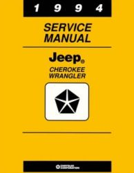 1994 Jeep Cherokee and Wrangler Factory Service Manual on CD-ROM