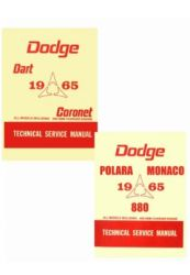 1965 Dodge Car (All Models) Factory Service Manual on CD-ROM