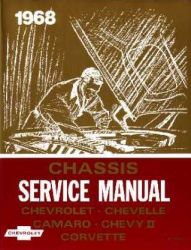 1968 Chevrolet Car Factory Service Manual and Fisher Body Manual on CD-ROM