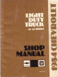 1984 Chevrolet Truck Light Duty Factory Service Manual on CD-ROM