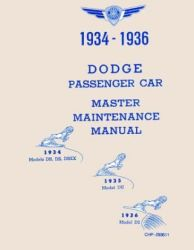 1934 - 1936 Dodge Car (All Models) Factory Service Manual on CD-ROM