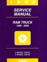 1996 Dodge Ram Truck Factory Service Manual on CD-ROM