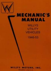 1946 - 1953 Jeep Willys Utility Vehicles Factory Service Manual on CD-ROM