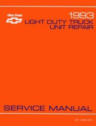 1993 Chevrolet Truck Light Duty Factory Service Manual on CD-ROM