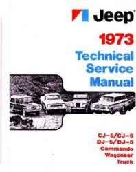 1973 Jeep (All Models) Factory Service Manual on CD-ROM