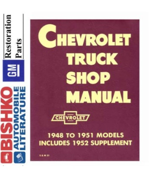1948 - 1953 Chevrolet Truck (All Models) Factory Service Manual on CD-ROM