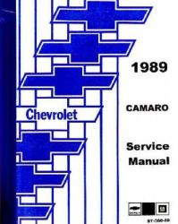 1989 Chevrolet Camaro Factory Service Manual on CD-ROM