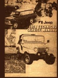 1978 Jeep (All Models) Factory Service Manual on CD-ROM