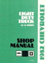 1982 Chevrolet Truck Light Duty Factory Service Manual on CD-ROM