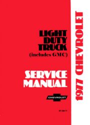 1977 Chevrolet Truck Light Duty Factory Service Manual on CD-ROM