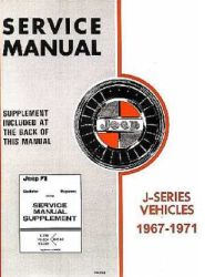 1967 - 1971 Jeep J-Series Factory Service Manual on CD-ROM