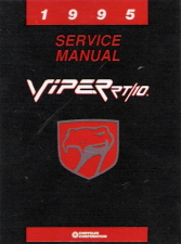 1995 Dodge Viper RT/10 Factory Service Manual on CD-ROM