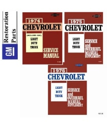 1974-1976 Chevrolet and GMC C/K 10-30 Light Duty Truck Factory Body, Chassis and Electrical Service Manual on CD-ROM