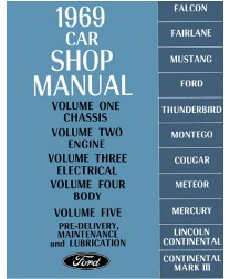 1969 Ford, Lincoln & Mercury Cars Factory Shop Manual