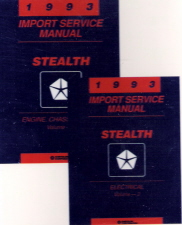1993 Dodge Stealth Factory Service Manual on CD-ROM