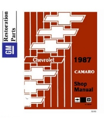 1987 Chevrolet Camaro Factory Body, Chassis & Electrical Service Manual on CD-ROM