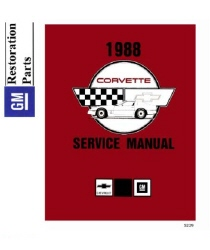1988 Chevrolet Corvette Factory Body, Chassis & Electrical Service Manual on CD-ROM