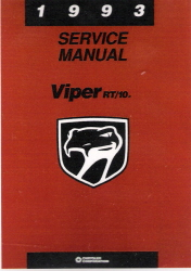 1993 Dodge Viper RT/10 Factory Service Manual on CD-ROM