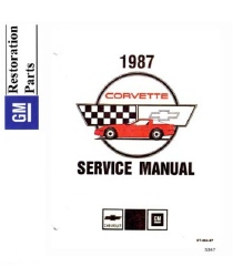 1987 Chevrolet Corvette Factory Body, Chassis & Electrical Service Manual on CD-ROM