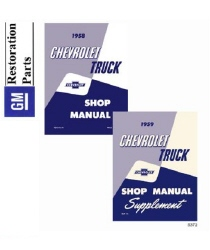 1958-1959 Chevrolet Trucks Factory Body, Chassis & Electrical Service Manual on CD-ROM