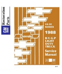 1988 Chevrolet R, V, G, P Series Trucks Factory Body, Chassis & Electrical Service Manual on CD-ROM