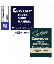 1955-1956 Chevrolet Truck Full Line Factory Body, Chassis & Electrical Service Manual on CD-ROM