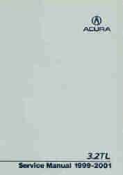 1999 - 2001 Acura 3.2TL Factory Service Manual on CD-ROM