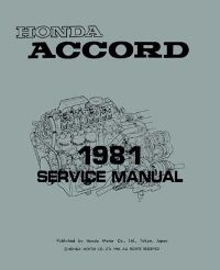 1981 Honda Accord Factory Service Manual on CD-ROM