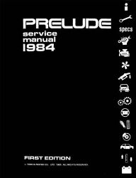 1984 Honda Prelude Factory Service Manual on CD-ROM
