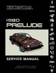 1980 Honda Prelude Factory Service Manual on CD-ROM