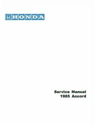 1985 Honda Accord Factory Service Manual on CD-ROM
