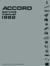 1982 Honda Accord Factory Service Manual on CD-ROM