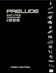 1986 Honda Prelude Factory Service Manual on CD-ROM