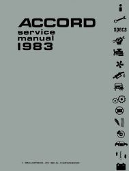 1983 Honda Accord Factory Service Manual on CD-ROM