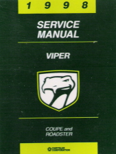 1998 Dodge Viper Factory Service Manual on CD-ROM