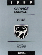 1999 Dodge Viper Factory Service Manual on CD-ROM