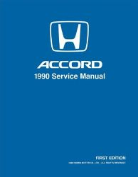 1990 Honda Accord Factory Service Manual on CD-ROM