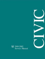 2001 - 2002 Honda Civic Factory Service Manual on CD-ROM