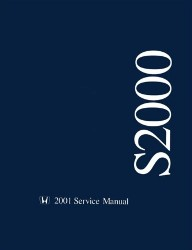 2001 Honda S2000 Factory Service Manual on CD-ROM