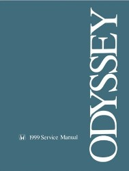 1999 Honda Odyssey Factory Service Manual on CD-ROM