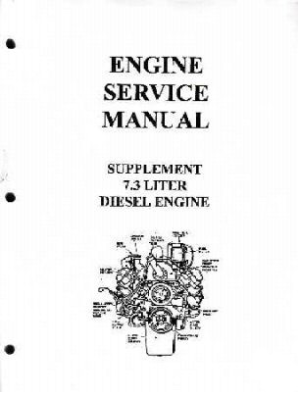 1988 - 1993 Ford Truck 7.3 Diesel Engine Shop Manual