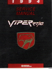 1994 Dodge Viper RT/10 Factory Service Manual on CD-ROM