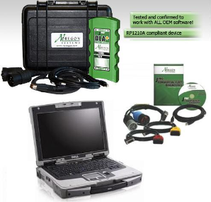 JPRO SCHOOL BUS Fleet Service Bundle w/ BUS Adapter & Cables Loaded on Fully Rugged Dell XFR-D630