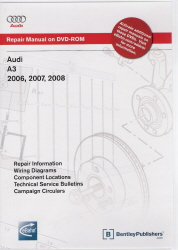 2006 - 2008 Audi A3 Official Factory Repair Manual on DVD