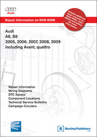 2005 - 2009 Audi A6 & S6 including Avant & Quattro Factory Repair Manual DVD-ROM