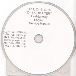 Caterpillar C-11 C-13 C-15 C-16 C-18 ACERT On-Highway Engine Service Manual CD-ROM