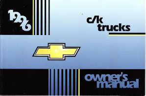 1996 Chevrolet C/K Trucks Owner's Manual