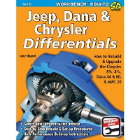 1967 - 1985 Jeep, Dana & Chrysler Differentials: How to Rebuild the 8-1/4, 8-3/4, Dana 44 & 60 & AMC 20 Manual