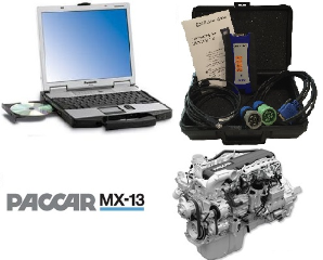 PACCAR Davie4 MX-11 & MX-13 Engine Software on Panasonic Toughbook CF-52 & Nexiq USB-Link 2 Adapter